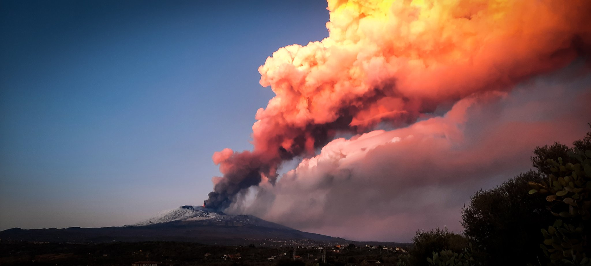 Vulkan Etna - aktivan