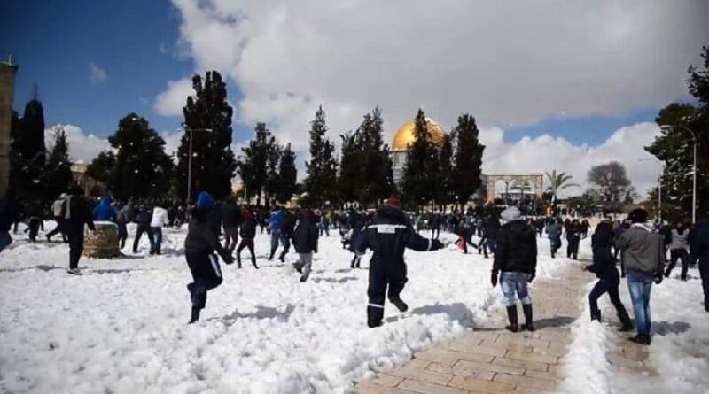 Snijeg prekrio Jerusalem