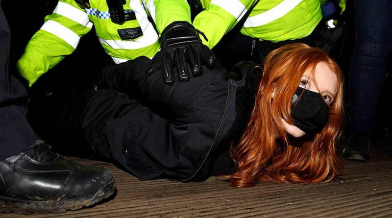 IN PHOTOS: UK police crackdown on vigil for Sarah Everard