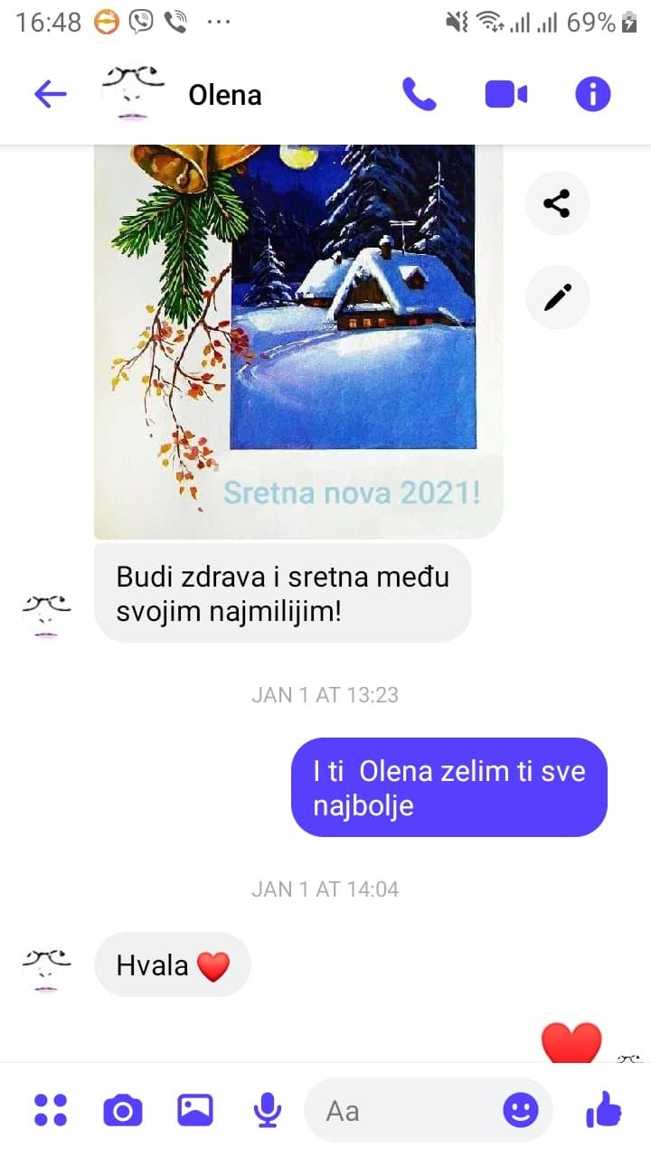 Olenina poslednja poruka meni