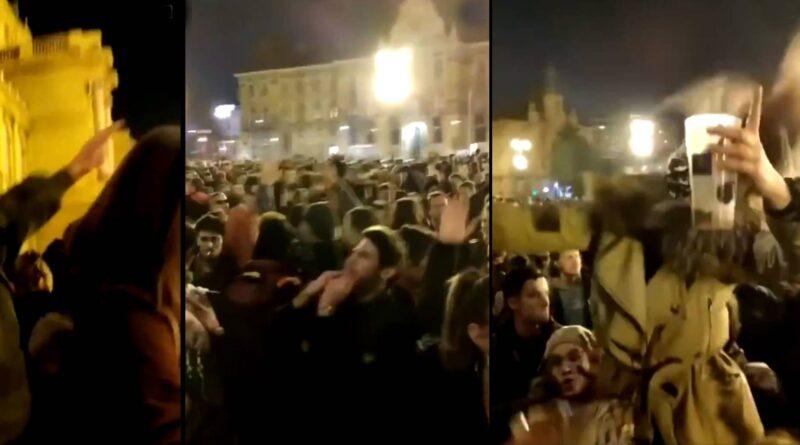 Hrvatska danas: (VIDEO) Ludilo uz srpske narodnjake u centru Zagreba