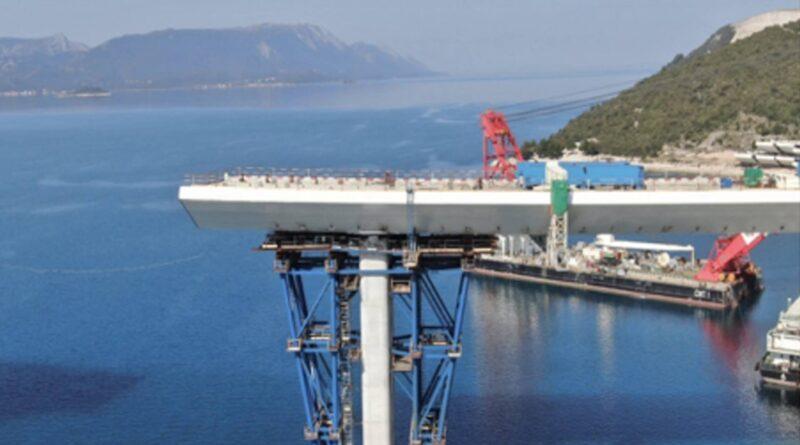 Hrvatska: Postavljeno je više od polovice Pelješkog mosta – 52 posto dužine
