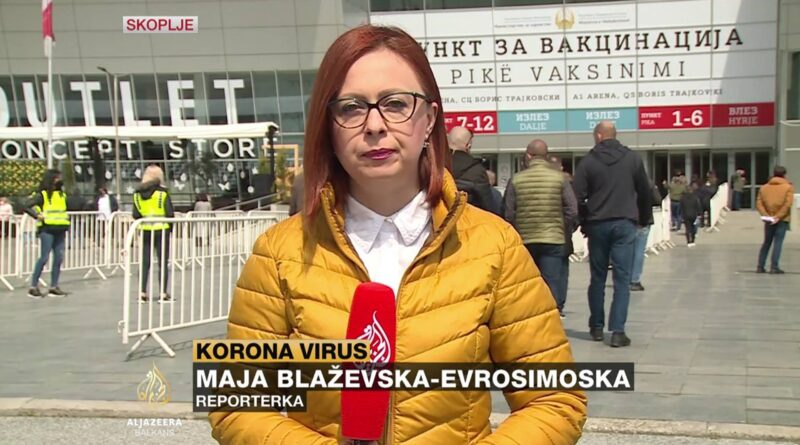 Sjeverna Makedonija, Skoplje: Masovna vakcinacija u sportskoj dvorani (Video)