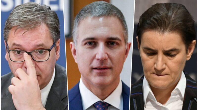 """Vučić i Brnabić """"brane"""" Stefanovića nazivajući ga Slinom"""