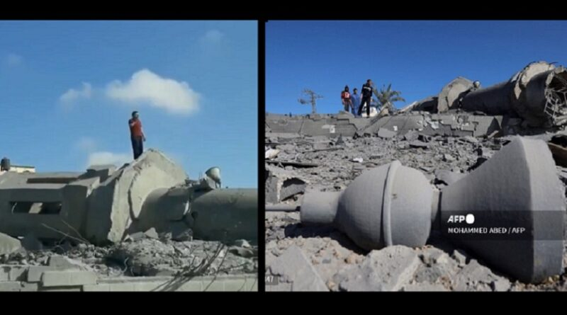 Ezan, proušena džamija, Gaza, Izrael