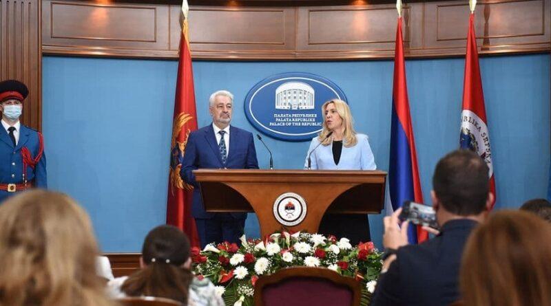 Krivokapić, posjeta, RS, Željka Cvijanović, integritet, BiH