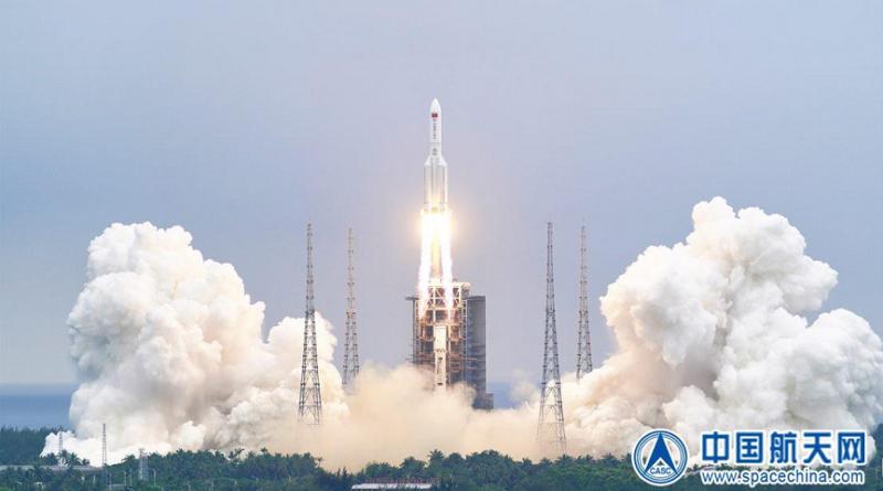 kineska raketa, pad u more
