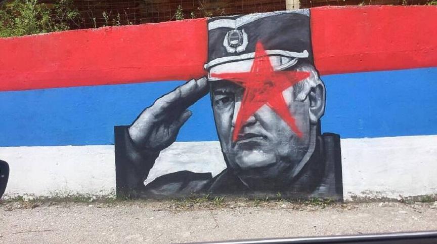 Foča, mural, Ratko Mladić, ratni zločinac