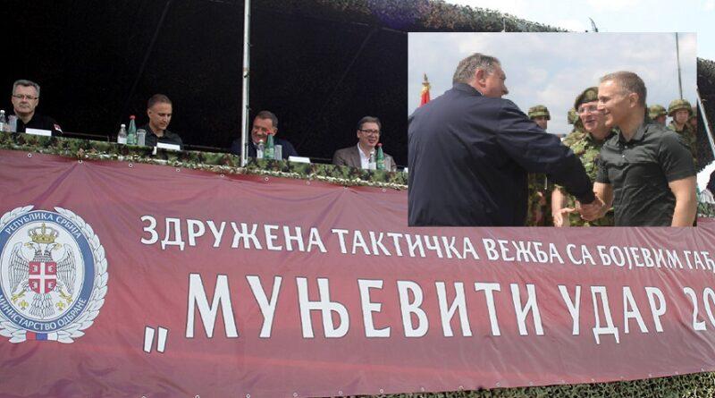 Munjevit udar 2021, vojna vježba, Pešter, vučić, Dodik