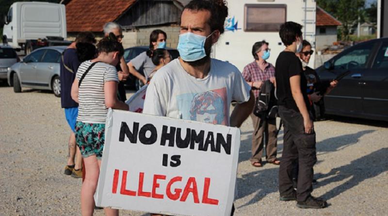 Protesti, evropskiaktivisti, migranti, granica BiH-Hrvatska