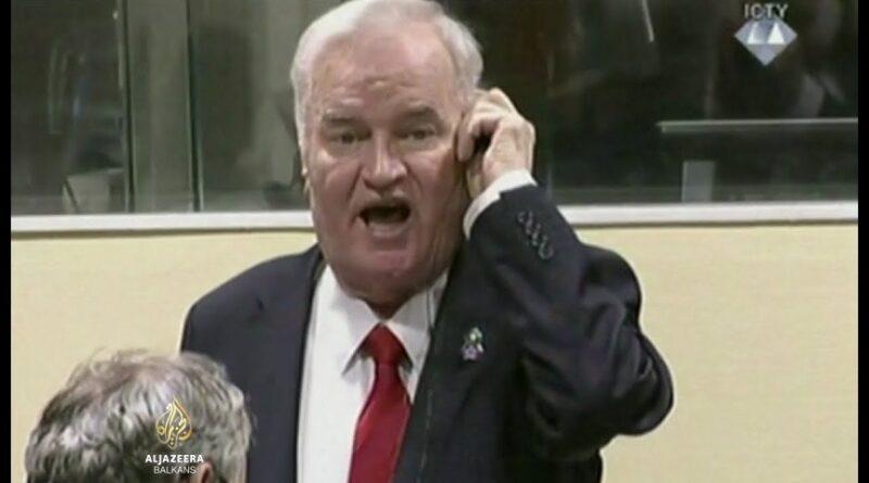 Ratko Mladić, doživotna kazna zatvora