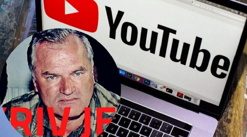 Ratko Mladić, pjesma , youtube, uklonjena