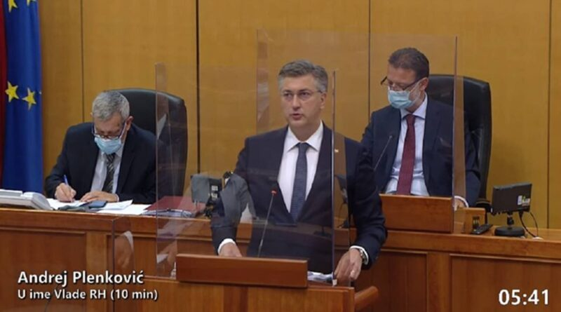 Andrej Plenković u saboru branio Vili Beroša i svađao se s oporbom