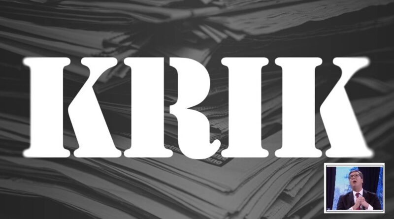 Serbia's Pro-Government Tabloids Again Target Independent KRIK