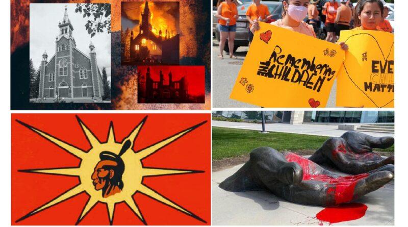 Kanada, paljenje crkava, protesti, paljena tijela djece
