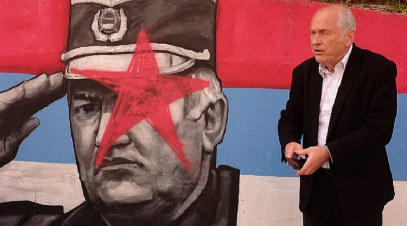 Mural, ratni zločinci, Foča, Insko