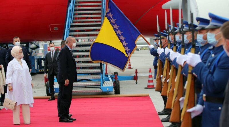 Erdoğan arrives in Bosnia as part of the mini-Balkans tour