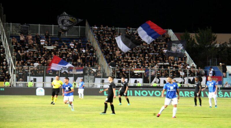 Fašistički ispadi Partizanovih navijača obilježili utakmicu u Novom Pazaru