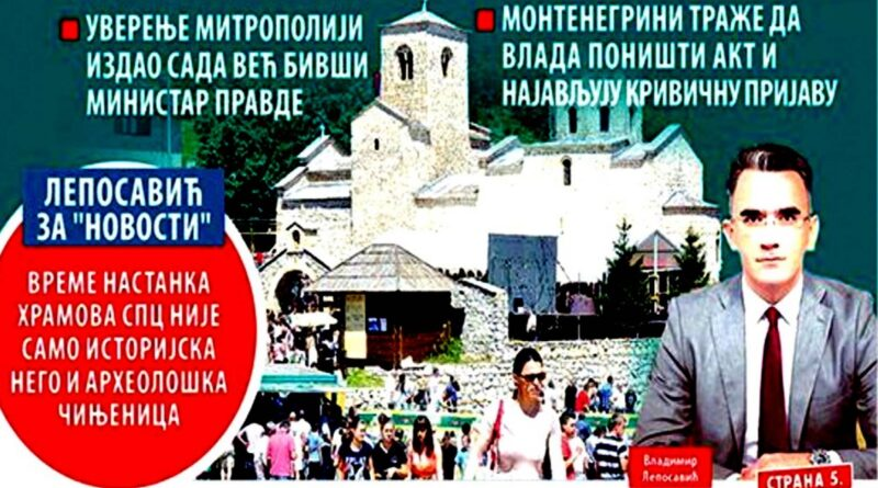 Srbija otima crkve Crnoj Gori: Vučićeva propaganda slavi falsifikate Krivokapićeve vlade