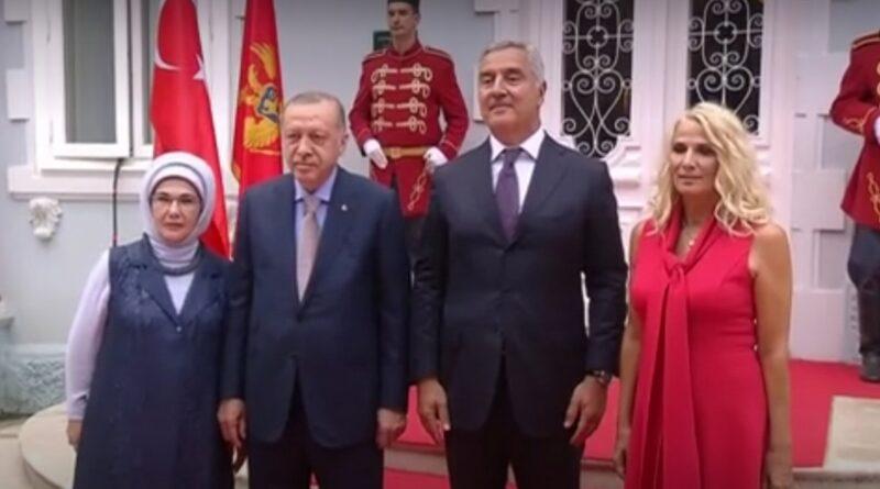 Erdogan, Crna Gora, Posjeta, MIlo Đukanović, Cetinje