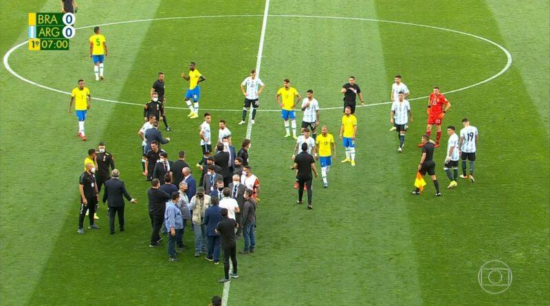 Brazil, Argentina, utakmica, prekinuta