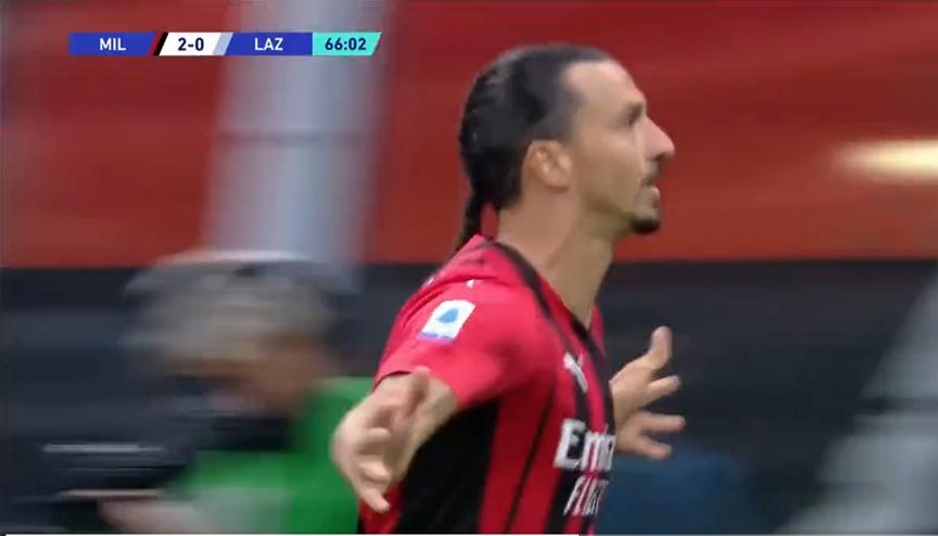 Ibrahimović, Lazio, go, MIlan