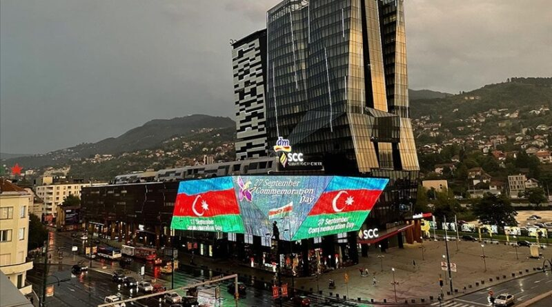 SCC, Sarajevo, zastava, Azerbejdžan