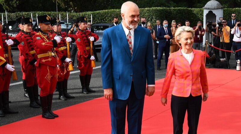 Ursula von der Leyenm, EU, posjeta, Albanija, Edi Rama