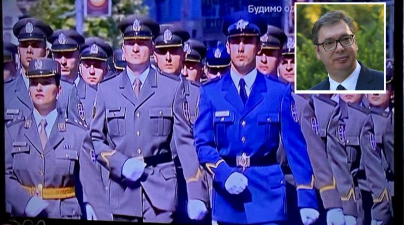 Vučić, vojska Srbije, Ušće
