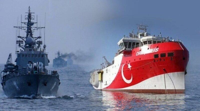 Turkish frigate warns Greek vessel violating continental shelf