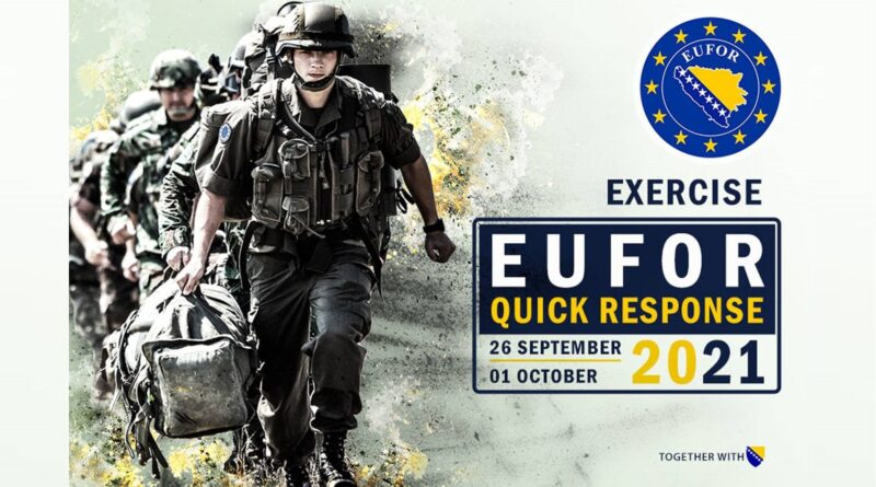 Bosnia and Herzegovina: The largest exercise that EUFOR has conducted to date