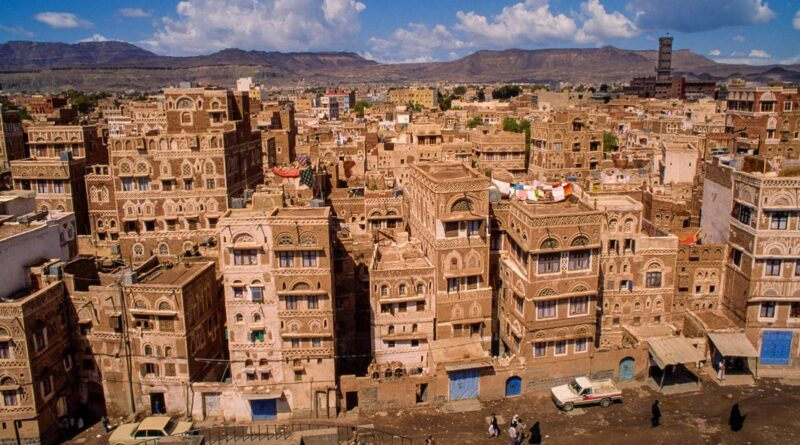 Mud houses in Sanaa in Yemen: The world's ancient skyscraper cities