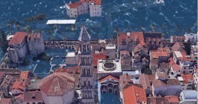 Ako se Zemlja zagrije za 3°C, ovako bi mogli izgledati Zadar, Split i Pula